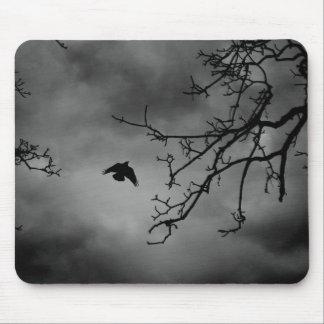 Eerie Bird in Flight Mouse Pad