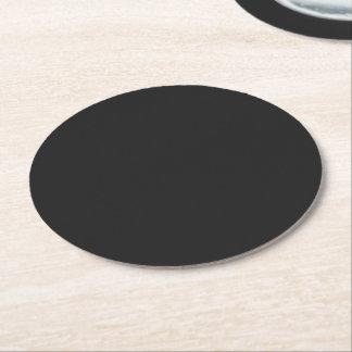 Eerie Black Round Paper Coaster