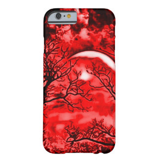 Eerie Blood Moon Airbrush Art Barely There iPhone 6 Case