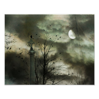 Eerie Crow Moon Poster