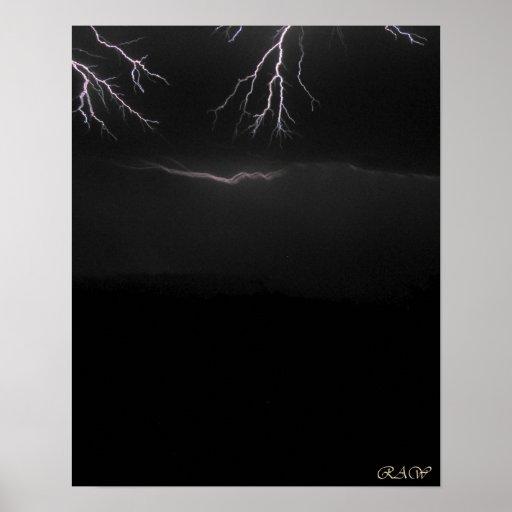 Eerie Fingers - Lightning photo Poster