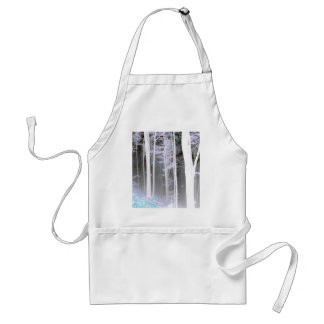 EERIE FOREST TREES LEAVES COLOR NEGATIVE APRONS