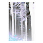 EERIE FOREST TREES LEAVES COLOR NEGATIVE CUSTOM STATIONERY