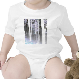 EERIE FOREST TREES LEAVES COLOR NEGATIVE TSHIRTS