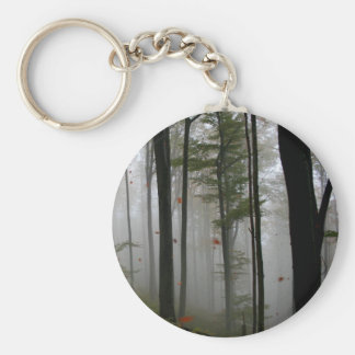 EERIE FOREST TREES LEAVES FULL FALL COLORS KEYCHAIN