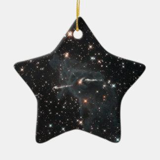 Eerie ghost in Carina Nebula Ceramic Ornament
