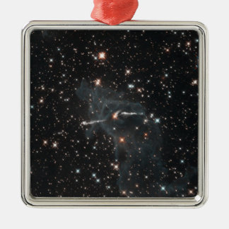 Eerie ghost in Carina Nebula Metal Ornament