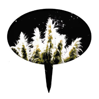 Eerie Glow Pampas Grass Cake Topper