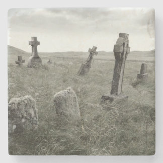 Eerie Gravesite Stone Coaster