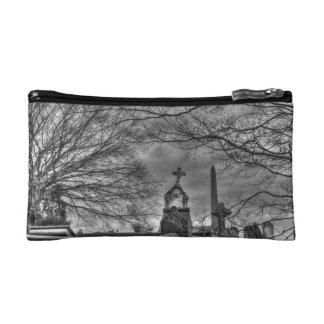 eerie graveyard cosmetic bag