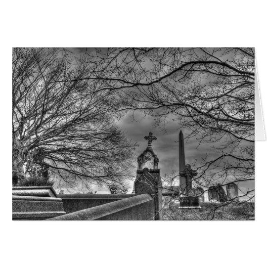 eerie graveyard card