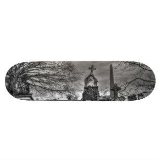 eerie graveyard skateboard deck