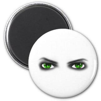 Eerie Green Eyes Fridge Magnets