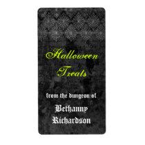 Eerie Halloween Kitchen Label
