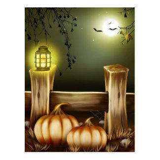 Eerie Halloween Scene Postcard