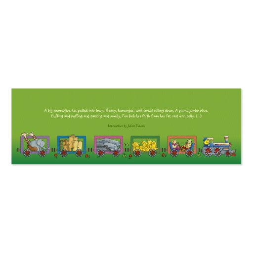 Eerie Locomotive - bookmark for kids Business Cards