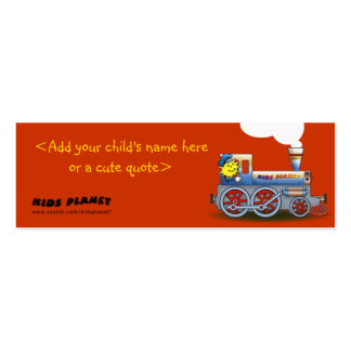 Eerie Locomotive - bookmark for kids Mini Business Card