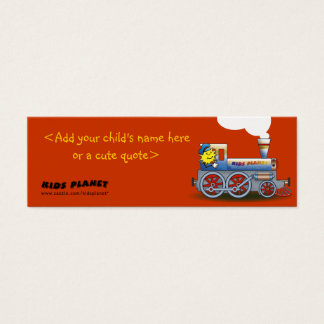 Eerie Locomotive - bookmark for kids Mini Business Card