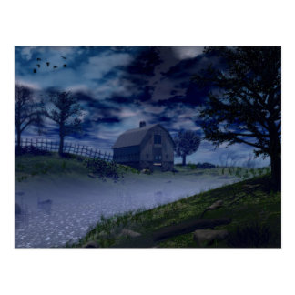 Eerie Night Postcard