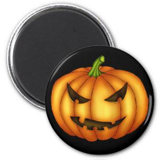 Eerie Pumpkin Fridge Magnet