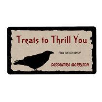 Eerie Raven Halloween Baking Labels