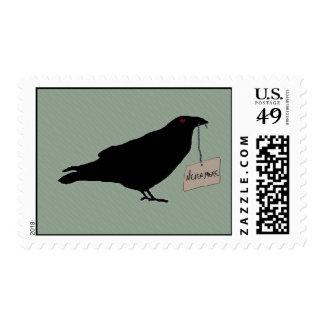 Eerie Raven Postage Stamp