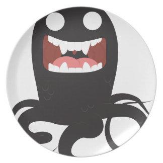 Eerie Sea Monster Dinner Plates
