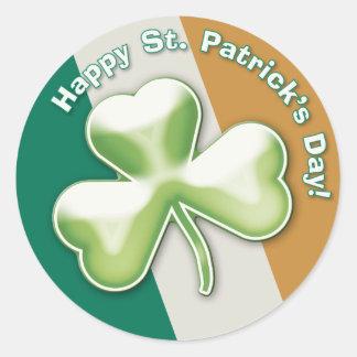 Eerie shamrock: Happy St. Patrick's Day! - Sticker