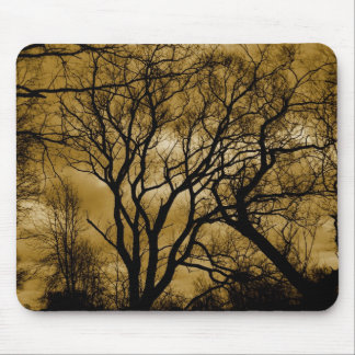 eerie trees mouse pad