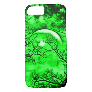Eerie Witch Moon Airbrush Art iPhone 7 Case