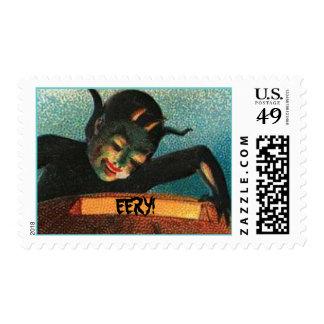 Eery Devilish Halloween Vintage Postage