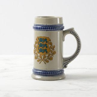 Eesti - escudo de armas estonio jarra de cerveza