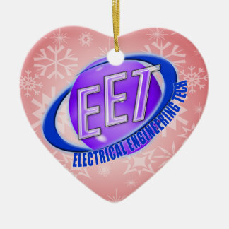 EET ORB SWOOSH LOGO ELECTRICAL ENGINEERING TECH CERAMIC ORNAMENT