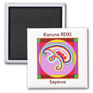 EEYAWA - Karuna Reiki by Navin Joshi 2 Inch Square Magnet