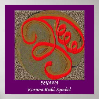 EEYAWA -  Karuna Reiki Healing Symbol Poster