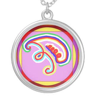EEYAWA   Karuna Reiki Symbol Round Pendant Necklace