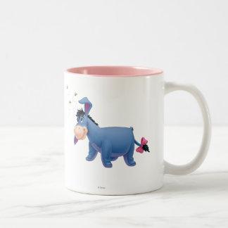 Eeyore 2 taza de café de dos colores