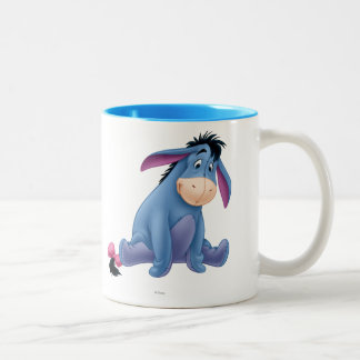 Eeyore 4 taza de café de dos colores