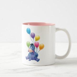 Eeyore 7 taza de café de dos colores
