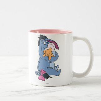 Eeyore 8 taza de café de dos colores