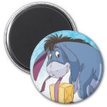 Eeyore Wrapping Gift 2 Inch Round Magnet