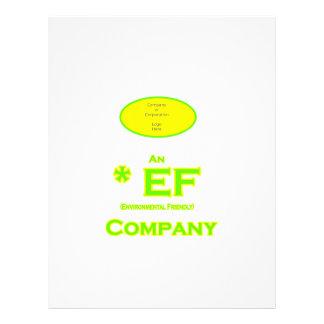 EF - Environmental Friendly Company 2 Customized Letterhead