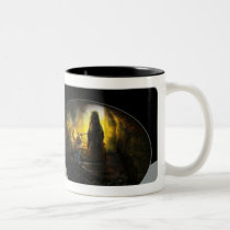witch, mood, bones, scary, scared, snake, spider, houk, mysterious, cave, illustration, artwork, web, gift, surrealism, amazing, awesome, digital art, weird, atmospheric, surreal, art, cool, unique, digital realism, fantasy, imaginative, Mug with custom graphic design