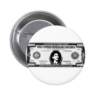 Efectivo de Obama Pin Redondo 5 Cm