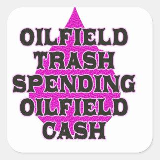 Efectivo del campo petrolífero del gasto de la colcomanias cuadradases