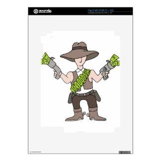 Efectivo del vaquero calcomanías para iPad 2