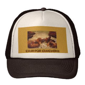 Efectivo para el gorra del pollo de Cluckers