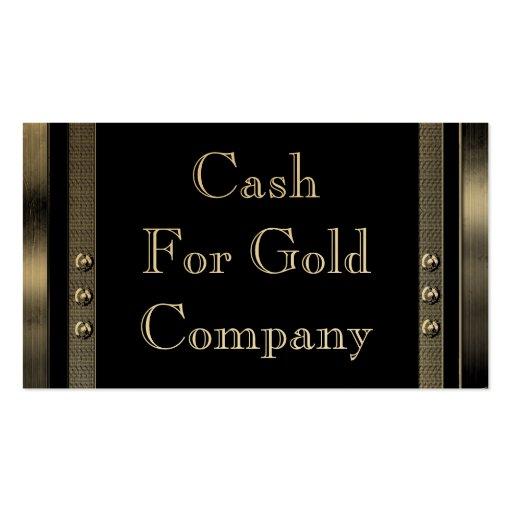 Efectivo para las tarjetas de visita del oro