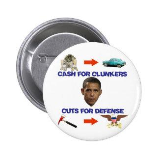 Efectivo para los Clunkers, cortes para la defensa Pin Redondo 5 Cm
