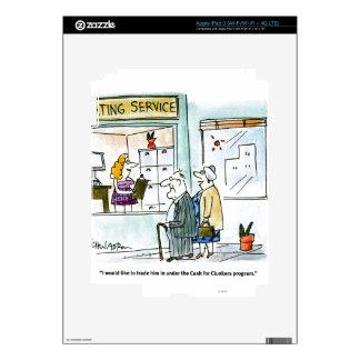 Efectivo para los Clunkers iPad 3 Pegatinas Skins